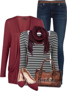 A fashion look from February 2016 featuring burgundy cardigan, long sleeve t shirts and faded jeans. Browse and shop related looks. Polyvore Outfits, Polyvore Fashion, Outfit 2016, Outfit Trends, Outfit Ideas, Burgundy Cardigan, Casual Outfits, Fashion Outfits, Scarf Outfits