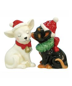 Take a look at this Holiday Chihuahuas Salt & Pepper Shakers on zulily today!