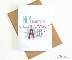 Funny Mum Card  For Mom  Mothers Day  Mums Day  by Lost Marbles Co