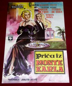 The Monte Carlo Story 1956 EXYUGO POSTER Marlene Dietrich