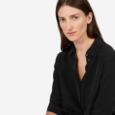 Everlane 100% silk shirt in Black (so luxe)