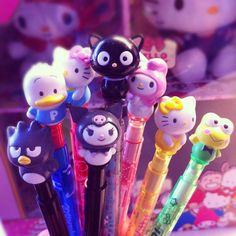Always a fan of Sanrio pens & pencils ^_^ Oh man they took my peckle pen at Disneyland for grad night