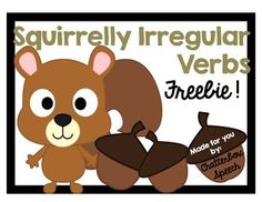 Irregular verbs can be so SQUIRRELLY! Use this sorting activity to help students begin to identify irregular past tense verbs.Simply print, laminate, and cut out the cards. Place them on the table and let students take turns finding the words that go together.