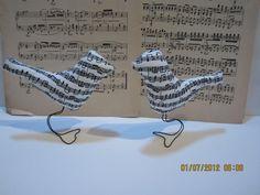 Sheet music Love Birds Wedding by peddlersfinds, $18.98