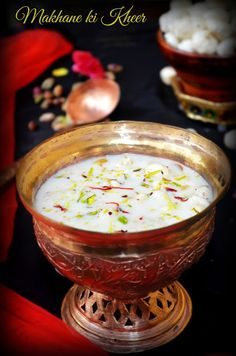 MAKHANE KI KHEER / LOTUS SEEDS ( FOXNUTS ) KHEER | Cook With Smile