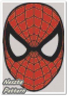Spiderman Face Cross Stitch Pattern Dora x stitch by NesztaPattern