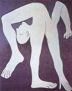 """Acrobat"" 1930, oil on canvas. This painting is part of Picasso's surrealism stage"