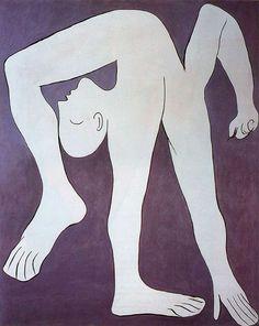 """""""Acrobat"""" (Acróbata), Pablo Picasso, 1930. Óleo sobre  lienzo. Musée Picasso, París, Francia."""