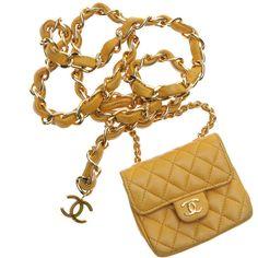 WGACA VINTAGE Chanel Mini Flap Bag Belt (43.687.975 IDR) ❤ liked on Polyvore featuring bags, handbags, chanel, purses, bolsas, borse, women, hand bags, handbags purses and flap bag