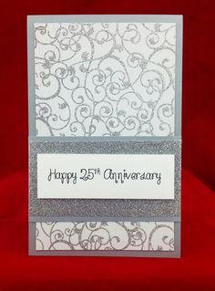 Handmade 25th Wedding Anniversary Card