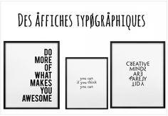 Affiche typographique en noir et blanc