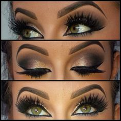 This eye look is gorgeous, those lashes are stunning. Good idea for my bridal…