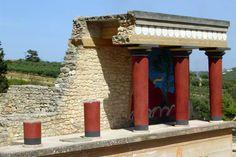 Kolumny z pałacu w Knossos, ok. 1600 BC