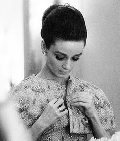 Audrey Hepburn wearing Givenchy in her suite at The Ritz Paris, 1964