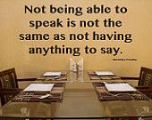 Wall Decal Not Being Able to Speak Vinyl Wall Decal Quote typography wall art vinyl lettering - i would want this depending on my setting and office setup Speech Therapy Quotes, Speech Language Pathology, Speech And Language, Parenting Courses, Parenting Plan, Foster Parenting, Parenting Teens, Parenting Quotes, Aphasia Therapy