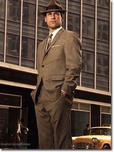 vintage men's suits with Hat