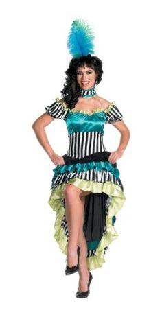 Can Can Cutie Costume - Adult Costume - Large (12-same one as I bought for $4.00 at thrift store  Disguise Costumes http://www.amazon.com/dp/B002NBJXGG/ref=cm_sw_r_pi_dp_7Sawub10H6E5H