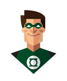 ツ by iSantano - Green Lantern Flat Design Amazing Flat Design of Superheroes by Jeffrey Rau