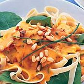 Free pumpkin and blue cheese fettuccine recipe. Try this free, quick and easy pumpkin and blue cheese fettuccine recipe from countdown.co.nz.