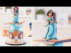 The main advantage of choosing a fake tan as opposed to a genuine tan in the sun is that you can prevent exposing yourself to the sun's strong rays and the associated health threats. Disney Themed Cakes, Disney Cakes, Jasmine Birthday Cake, Princesa Disney Jasmine, Princess Jasmine Cake, Aladdin Cake, Eid Cake, Beautiful Cakes, Pastel Party