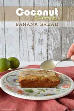 This banana bread recipe is made with coconut flour and honey which makes it gluten free, dairy free and refined sugar free, it is also healthy and yummy.