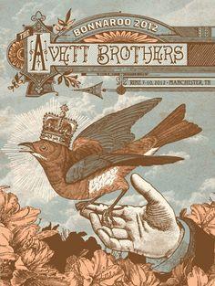 Avett Brothers - Bonnaroo  Designed by Status Serigraph