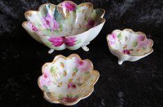 Vintage Hand painted Nut Serving Bowls by EMStreasureseekers, $58.00