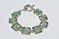 Aventurine Bracelet  Toggle Clasp Bracelet  by GemsandPearlsKC, $25.00