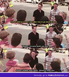A kid wanted to meet Iron Man. This is the reason EVERYONE loves RDJ.