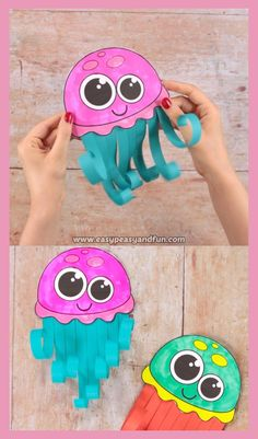 What better way to work on scissors skills than to make a wonderful scissor skills jellyfish craft. This summer craft is super fun to make and you can make it oh so colorful. Easy Crafts Scissor Skills Jellyfish Craft - Easy Peasy and Fun Toddler Crafts, Diy Crafts For Kids, Fun Crafts, Kids Diy, Children Crafts, Decor Crafts, Craft Ideas, Plate Crafts, Creative Crafts