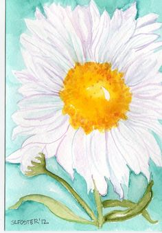 Shasta Daisies Watercolor Original Painting on by SharonFosterArt, $25.00