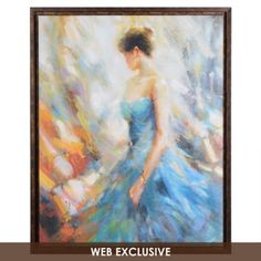 The Blue Gown Framed Canvas Print