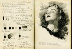 Andrew Loomis personal sketchbook. He is/was a totally amazing artist. He sure could sketch the body.