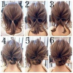 Short hair updo Quick and Easy Step by Step Hair Tutorials for Long, Medium,Short Hair Easy Updos For Medium Hair, Medium Short Hair, Medium Hair Styles, Curly Hair Styles, Short Hair Updo Easy, Short Hair Updo Tutorial, Thin Hair Updo, Updos For Medium Length Hair Tutorial, Short Hair Tutorials