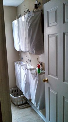 Great idea for laundry room.