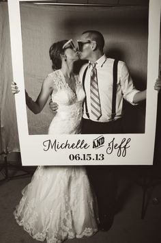 Michelle and Jeff's Polaroid photobooth prop made by Designs in Paper! // Photo by Justin Wright Photography // Simply Yours Weddings and Events Picture Booth, Diy Photo Booth, Photo Props, Our Wedding, Dream Wedding, Wedding Humor, Girls Dream, Cute Photos, Wedding Locations