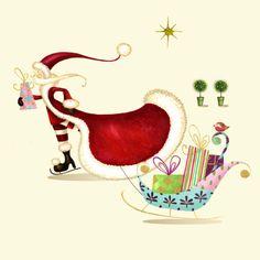Nicola Rabbett - Santa with sleigh.jpg