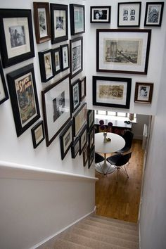 So excited about this blog! It is my vision for the stairway to heaven ;) {Inspiration Friday} Gallery Walls | Apartment Envy