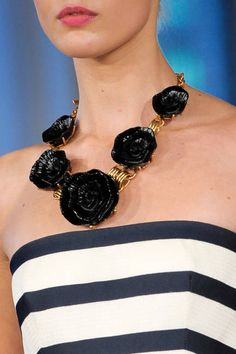 Make a statement with a bold necklace like this one seen on the Oscar de la Renta Spring 2013 runway.
