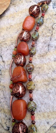 Bracelet -- love the mix of stones' sizes and colors