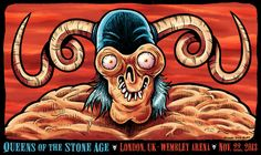 Concert poster for Queens of the Stone Age – Wembley Arena, UK (2013)