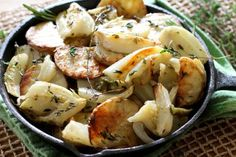 Oven Roasted Potatoes and Fennel, a simple, delicious vegetarian dish combining two favorite vegetables and makes an excellent side dish to any main meal.