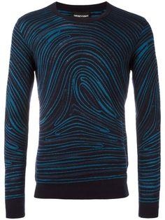 EMPORIO ARMANI twirled print sweatshirt. #emporioarmani #cloth #sweatshirt