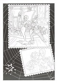 Gomez Morticia Page From The Addams Family Sticker Fun Book Family Coloring Pages Coloring Pages Coloring Books