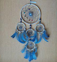 Blue dreamcatcher diy sold! www.asiczary.pl
