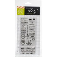 Hero Arts - Kelly Purkey Clear Planner Stamps - Girl Talk Planning