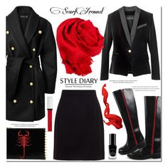 """""""Style Diary with Scarfaround"""" by mashajazzliving ❤ liked on Polyvore featuring Balmain, Dolce&Gabbana, C MPL T UNKN WN and Givenchy"""