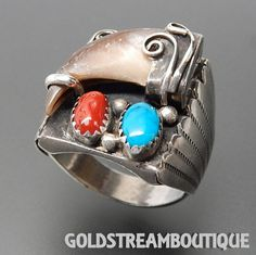 Metal: Silver Metal Purity: .925 Hallmark: N / A Size: 10.75 Artisan: UNKNOWN Tribe Affiliation: NAVAJO Width ( inches / mm ): 0.91 / 23.2 Weight ( gram ): 22.2 Condition: Vintage PLEASE BE ADVISED: W