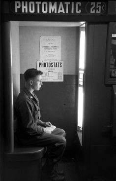 GI in Photo Booth, 1950s    Harold Feinstein