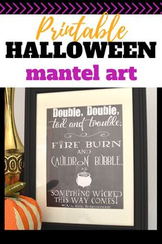 Double, double, toil and trouble free printable. Great for Halloween decor or for a fun Harry Potter inspired party What Is Halloween, Halloween Mantel, Halloween Season, Easy Halloween, Halloween Decorations, Halloween Sewing, Fall Sewing, Halloween Projects, Easy Sewing Projects